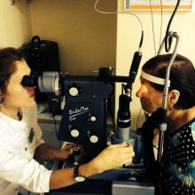 Сеанс лазерного лечения глаукомы, офтальмхирург Яфясова А.Ф.