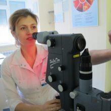 Сеанс лазерного лечения глаукомы, офтальмохирург Яфясова А.Ф.